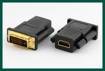 Female HDMI to Male DVI Adapter
